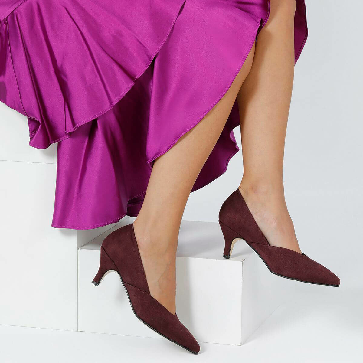 FLO JASON31Z Burgundy Women Ökçeli Shoes BUTIGO