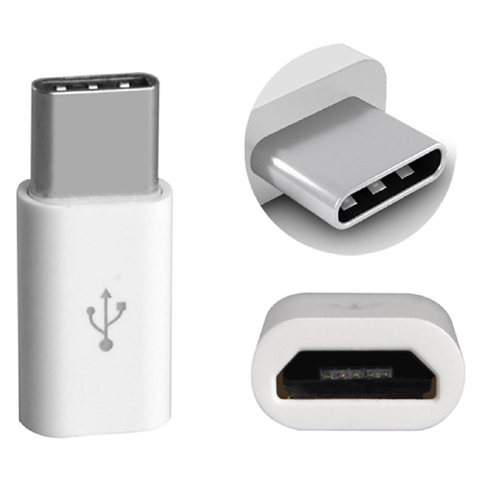 Adapter Connector Converter Micro USB 5 Pin Female To 3.1 Type C Fits A Normal Charging Cable A Fast Charge Choose Color