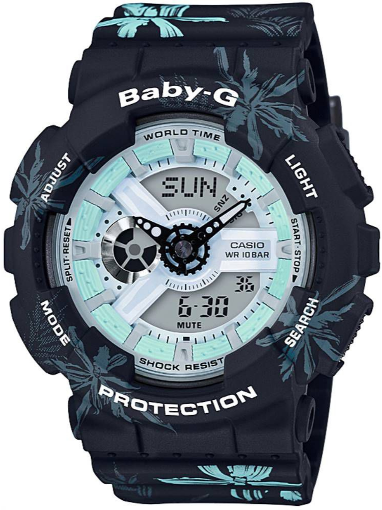 Watch Women Vintage Clock Band Sport-Light G-Shock-Resist Waterproof Silicone BA-110CF