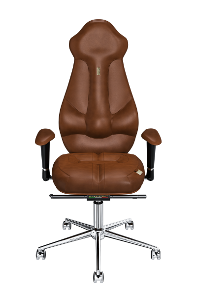 Office Chair KULIK SYSTEM IMPERIAL Brown Computer Chair Relief And Comfort For The Back 5 Zones Control Spine