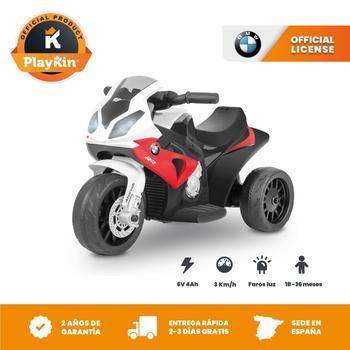 Moto electrica niños BMW oficial 6V recargable triciclo infantil +18 meses juguetes infantiles correpasillos infantil - Playkin