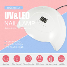 TP 36W UV LED Nail Lamp White 15 Pcs Leds Nail Dryer For All Gel Nail Drying Curing Nail Polish Dryer LCD Display Nail Art Tool cheap 300g 110-240V nail light lamp Air Dryers FZ-SUN X7 PLUS 15pcs led lamp nail uv lamp nail uv nail lamp nail lamp 36w