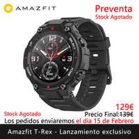 Amazfit T-REX lançamento exclusivo pré-venda vai enviar os dias 15 fevereiro relógio inteligente esportes ao ar livre [versão global]