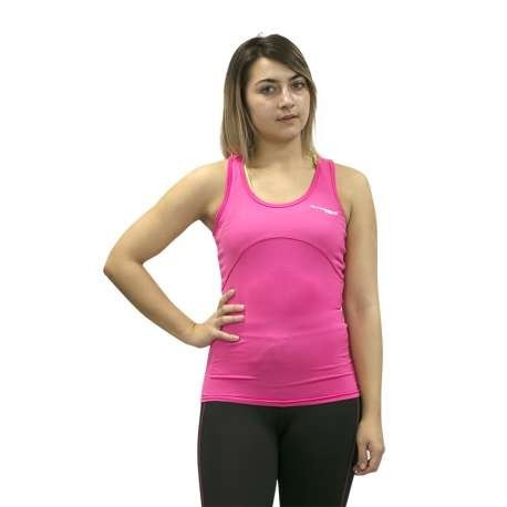 CAMISETA RUNNING TIRANTES BREATHE RUNAWAY JIM MUJER - TALLA S - COLOR FUCSIA