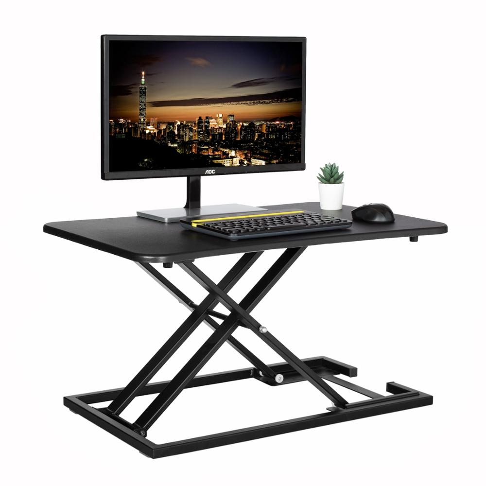 Standing Desk Height Adjustable Converter Sit to Stand table Stand up Office Workstation Table for Computer Monitor