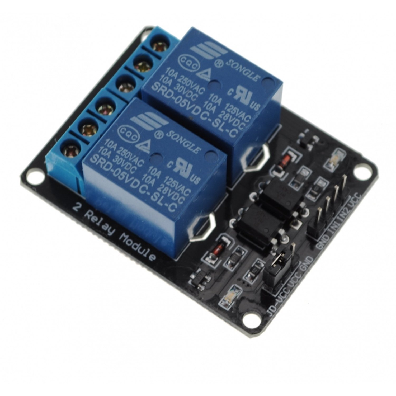 2-Channel 5V Relay Module for Arduino DSP AVR PIC ARM [Arduino Compatible] relay shield v1 0 5v 4 channel relay module for arduino works with official arduino boards