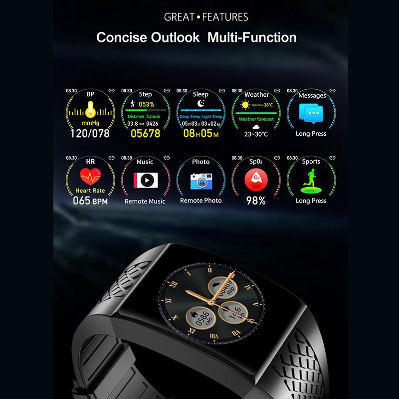 lowest price Large Curved Screen Smart Wristbands Fitness Bracelet Tracker Remote Control Camera Music Smart Band Watch Ergonomic Design New