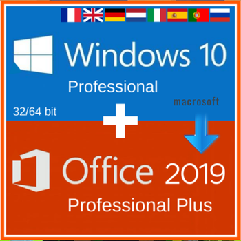 Office 2019 Pro Plus + Windows 10 Pro Activation CODE KEY Multi-lingual