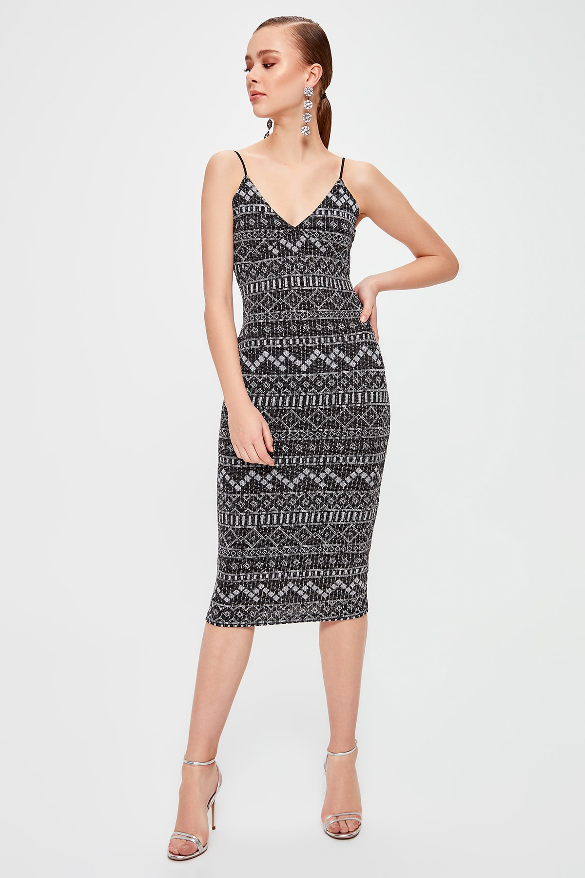 Trendyol Collar Detail Dress TPRSS20EL0111