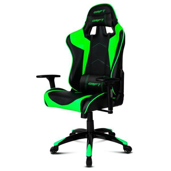 Gaming Chair DRIFT DR300BG 90 160º Foam Black Green|Gamepads| |  - title=