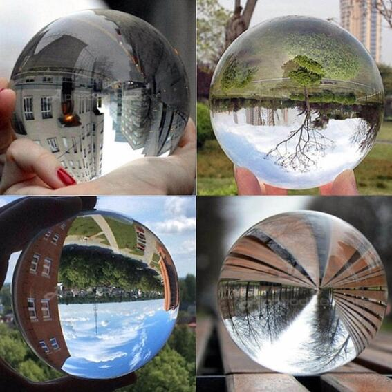 New Fashion Clear Crystal Ball 50/60mm Photography Glass Lens Sphere Ball Photo Decoration