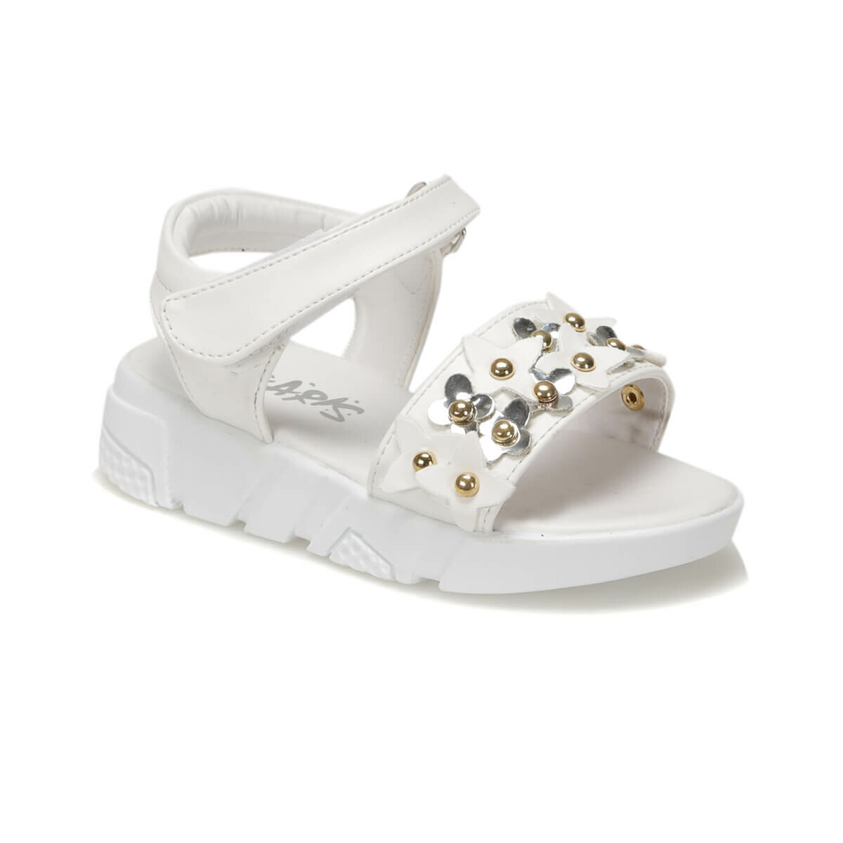FLO 91.511264.P White Female Child Sandals Polaris