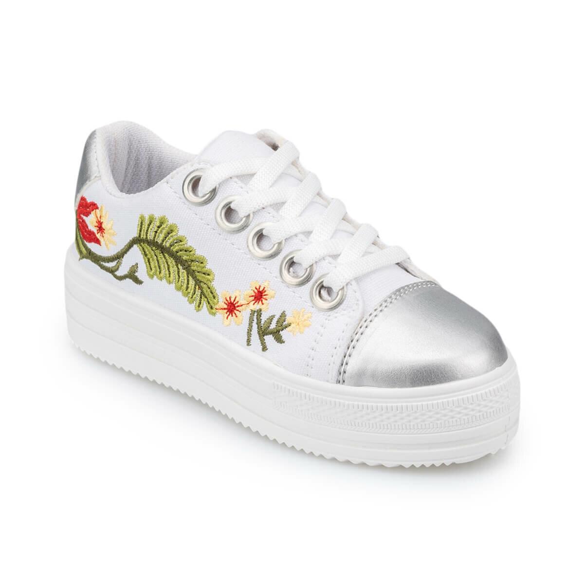 FLO 91. 511429.F White Female Child Shoes Polaris