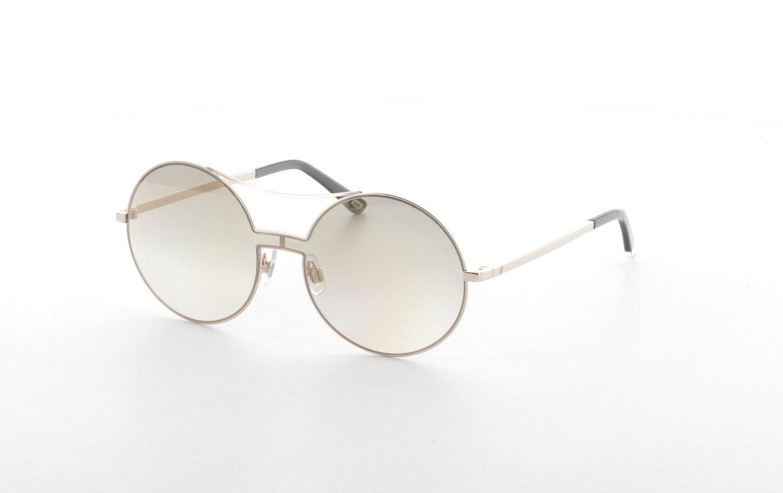 Unisex sunglasses w 0211 28g metal gold polycarbonate round round 58-14-140 web