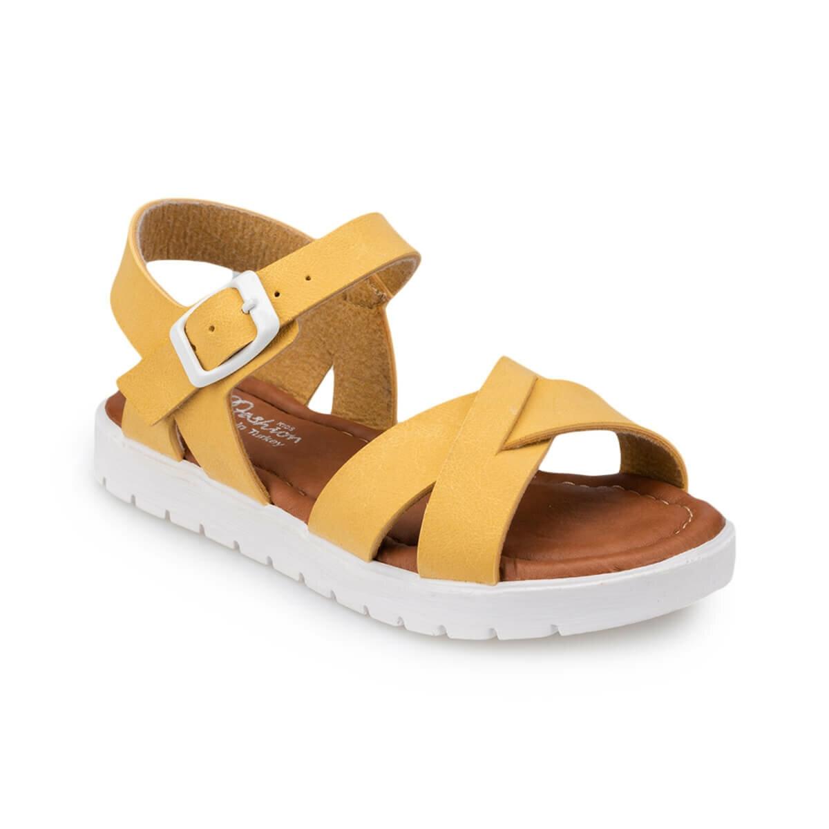 FLO 91.508159.B Yellow Female Child Sandals Polaris