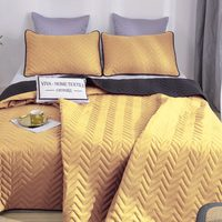 Bedspread solid bilateral and two pillowcases odp011