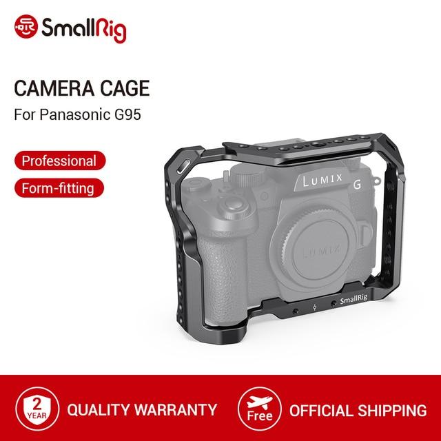 SmallRig G95 Dslr kafes Panasonic G95 kamera kafesi soğuk ayakkabı dağı ve NATO rayları Video çekim hızlı bırakma kafes 2446