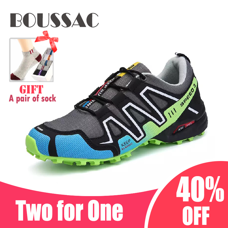 BOUSSAC Men's Outdoor Hiking Shoes Trekking Tourism Boots Camping Shoes Non-slip Climbing Mountain Sport Shoes Walking Sneakers