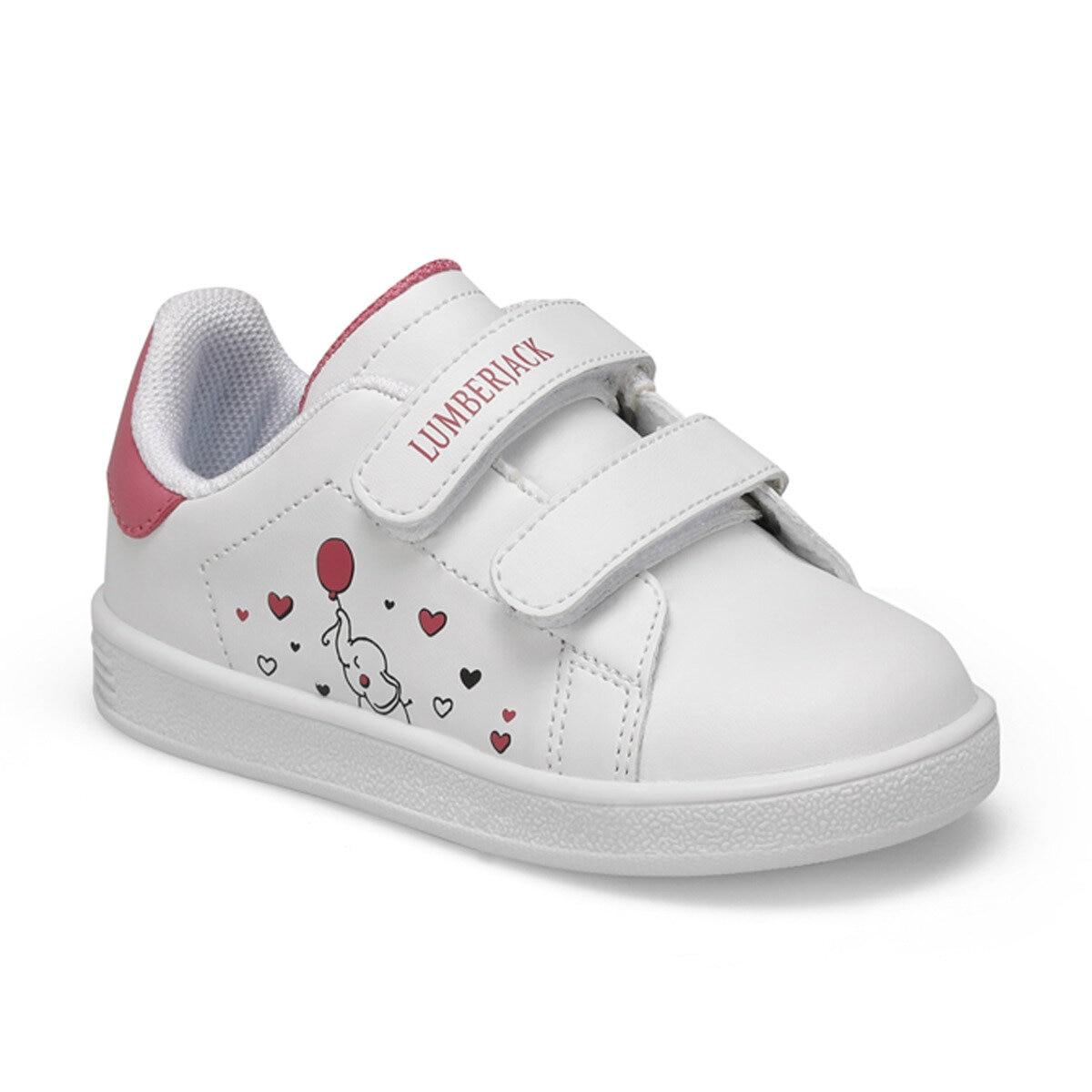 FLO PASSION White Female Child Sneaker Shoes LUMBERJACK
