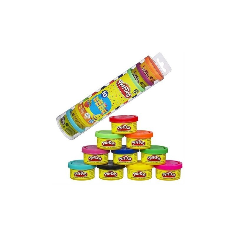 Pack Party 10 Boats Colorful Plasticine Play-Doh