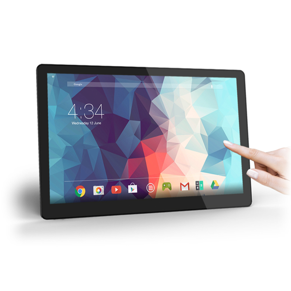 Cheap 15.4 Inch PoE Android Tablet Pc Flush Wall Mount (Rockchip3288, 2GB DDR3, 8GB Flash, Wifi, Ethernet, BT, VESA, Bracket)