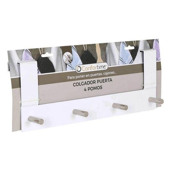 Door Coat Rack Confortime (4 Hangers) (37 X 13,4 X 8,5 Cm)
