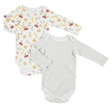 ebebek For My Baby Happy Animals Long Sleeve Bodysuit 2 pcs Romper Fashion Casua