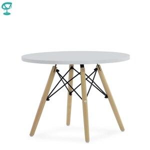TN12White Barneo TN-12 интерьерный журнальный столик белый МДФ на деревянных ножках круглый кофейный столик мебель для кухни столик для кофе столик д...