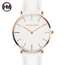Hannah Martin luksusowej marki kwarcowy kobiety białe zegarki życie zegarek wodoodporny zegar prezent dla kobiet kobieta zegarek Reloj Mujer