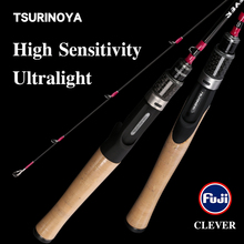 TSURINOYA BAITFINESSE TROUT Fishing rod CLEVER 1.19/1.57/1.6/1.85m UL L Spinning Casting 2 Section FUJI Guide Rings Accessories