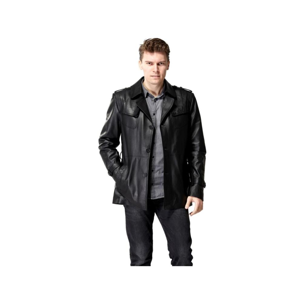 Outwear Motor Biker-Sheepskin Jacket.mens Coat.slim Genuine-Leather Plus-Size Sales Brand-New title=