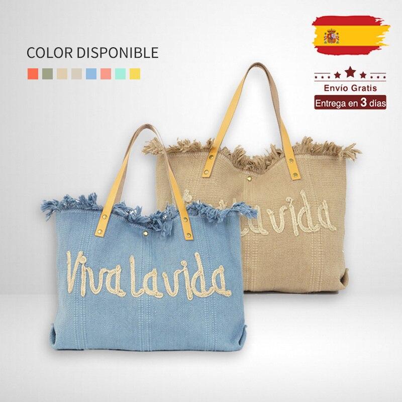 Женская пляжная сумка Giovanna Milano, большая Льняная сумка на плечо с пуговицами и бахромой, летняя дорожная сумка в богемном стиле, J1143