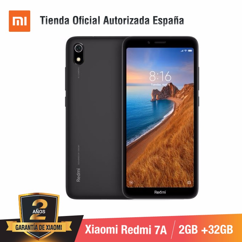[Global Version For Spain] Xiaomi Redmi 7A (Memoria Interna De 32GB, RAM De 2GB, Camara De 13MP+5 MP)