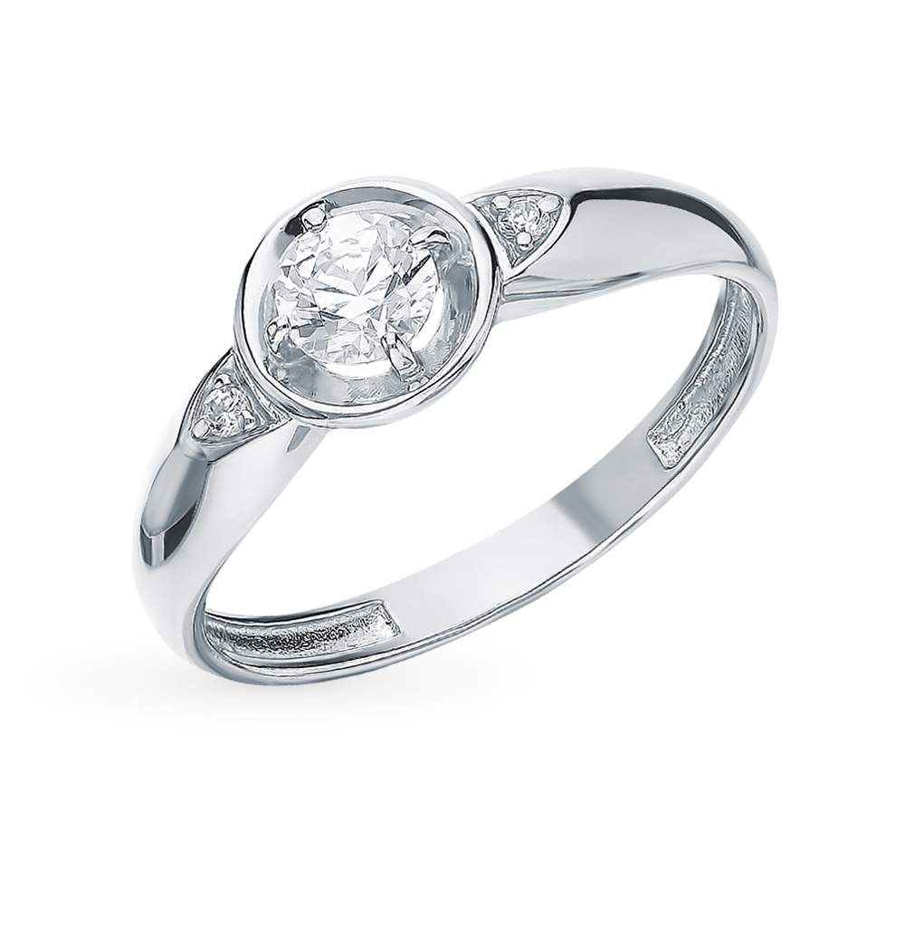 Silver Ring With Cubic Zirconia Sunlight Sample 925
