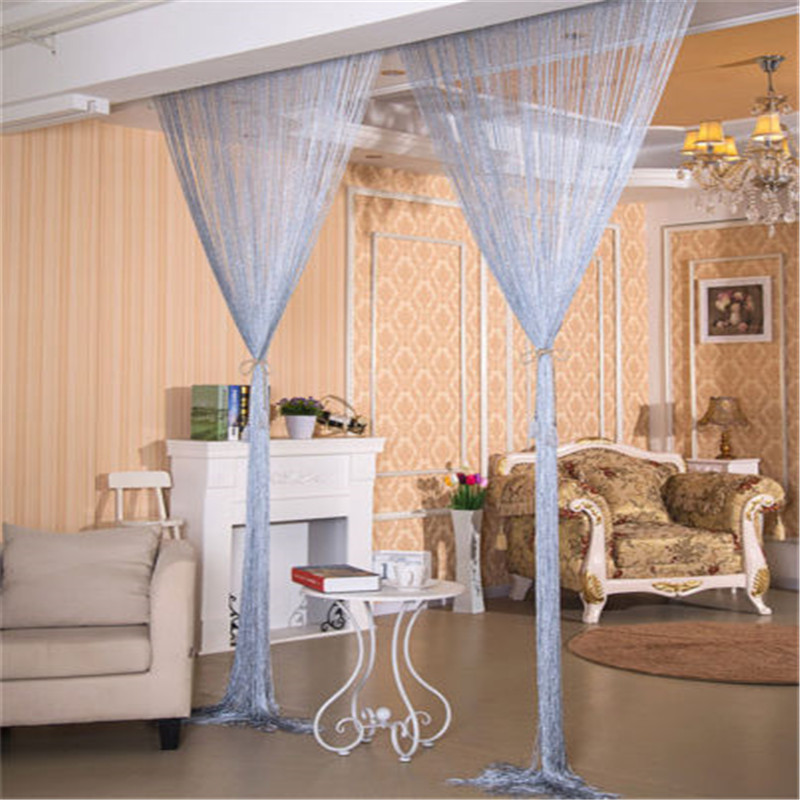 Curtain-String Divider Decorative-Curtain Room-Panel Glitter Crystal Door Window Tassel title=