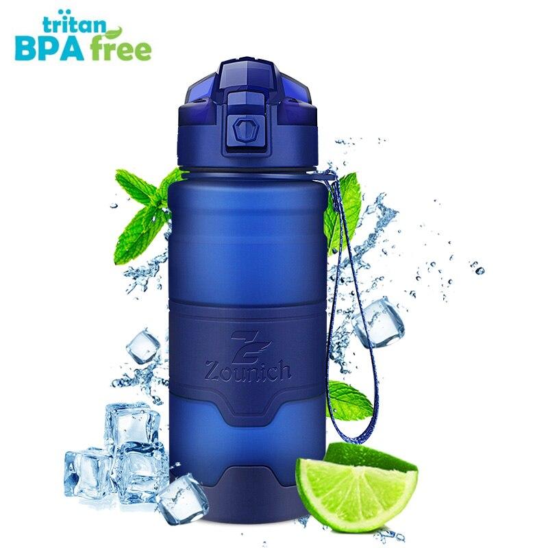 스포츠 물병 500 ML 단백질 셰이커 야외 여행 휴대용 Leakproof 트 리 탄 플라스틱 대용량 음료 병 BPA 무료