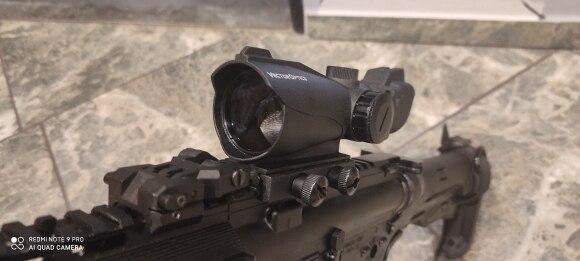 Отзыв о товаре Векторная оптика Condor 2x42 красный и зеленый точечный прицел для винтовки с 20 мм основанием для Вивера для охоты 12ga Shotgun .22 от пользователя J***s
