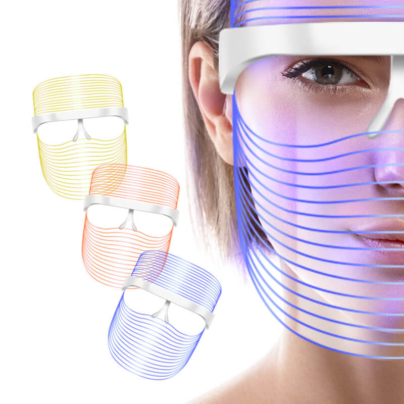 3 Colors Led Facial Mask Led Korean Photon Therapy Face Mask Machine Light Therapy Acne Mask Neck Beauty Led Mask