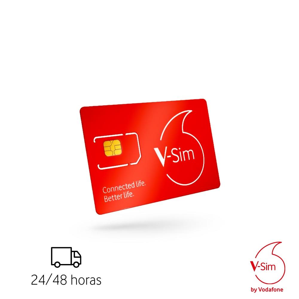 V-SIM Vodafone Smart Sim Card Works For Connected Devices GPS Trakers Cameras Cameras De Seguridad Trakers Pets People