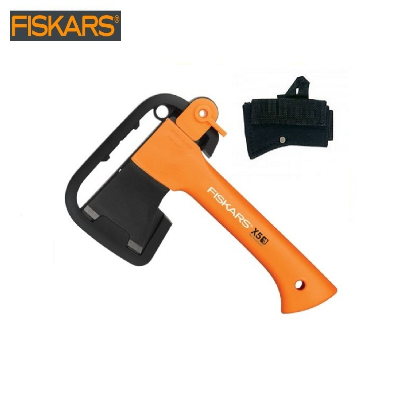 Ax universal X5 + ax cover as a gift Fiskars (1015617) heavy harvesting  Woodworking tools tomahawk dividing survival