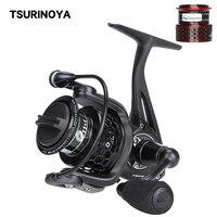TSURINOYA 2 Spools Full Metal Body High Quality Spinning Reel SPIRIT TSP 2000 11+1Ball Bearing Saltwater Spinning Fishing Reel