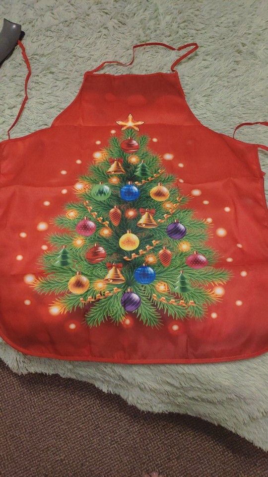 Red Christmas Kitchen Apron photo review