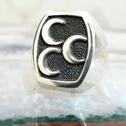 925 пробы Серебряное мужское кольцо с 3 Полумесяцами