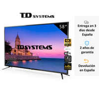 Televisions Smart TV 58 Inch TD K58DLJ10US Systems. UHD 4K HDR, DVB-T2/C/S2, HbbTV [Shipping from Spain, guarantee old 2]