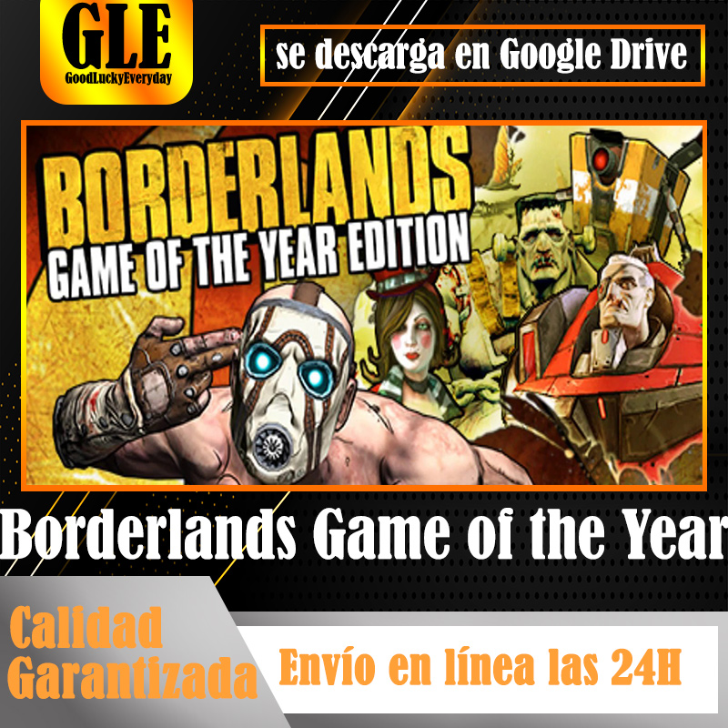Borderlands Game of the Year Video Games application for PC unique games application download Google Drive decompress with Winzip Winrar image