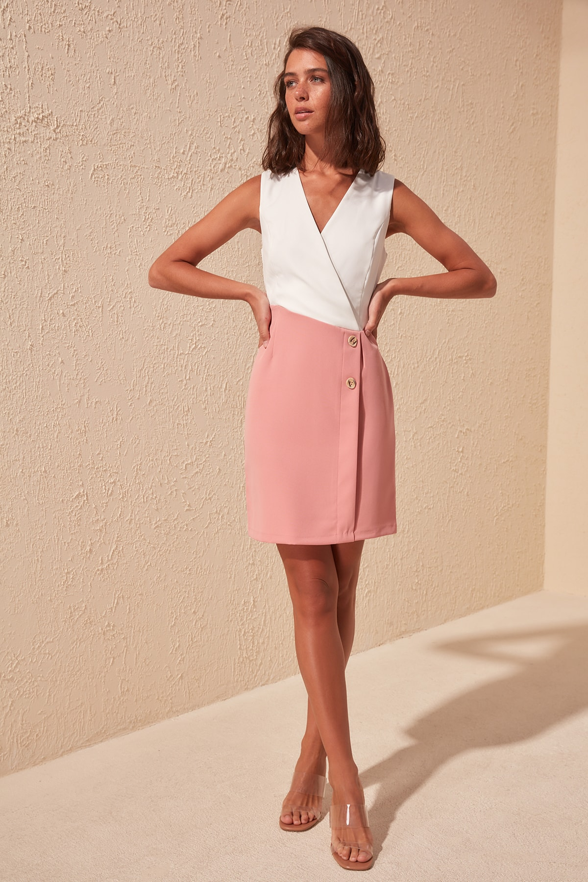Trendyol With Color Block Dress TWOSS20EL0410
