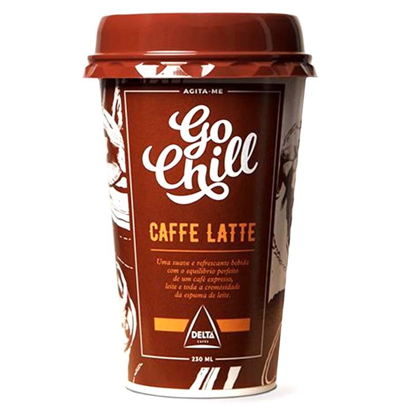 Caffe Latte Go Chill 230 ml Delta Cafes Ready to Drink