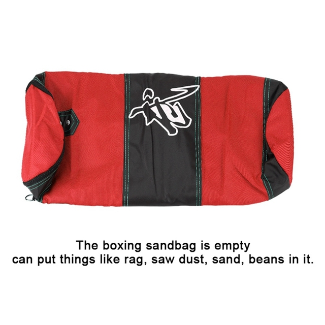 Empty Boxing Sandbag Home Fitness Hook Hanging Kick Punching Bag Boxing Training Fight Karate Punch Muay Thai Sand Bag 5