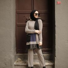 Butik Melike damskie dwukolorowe garnitury 2021 nowości hidżab abaya moda muzułmańska zestaw islamska odzież modlitewna odzież turcja