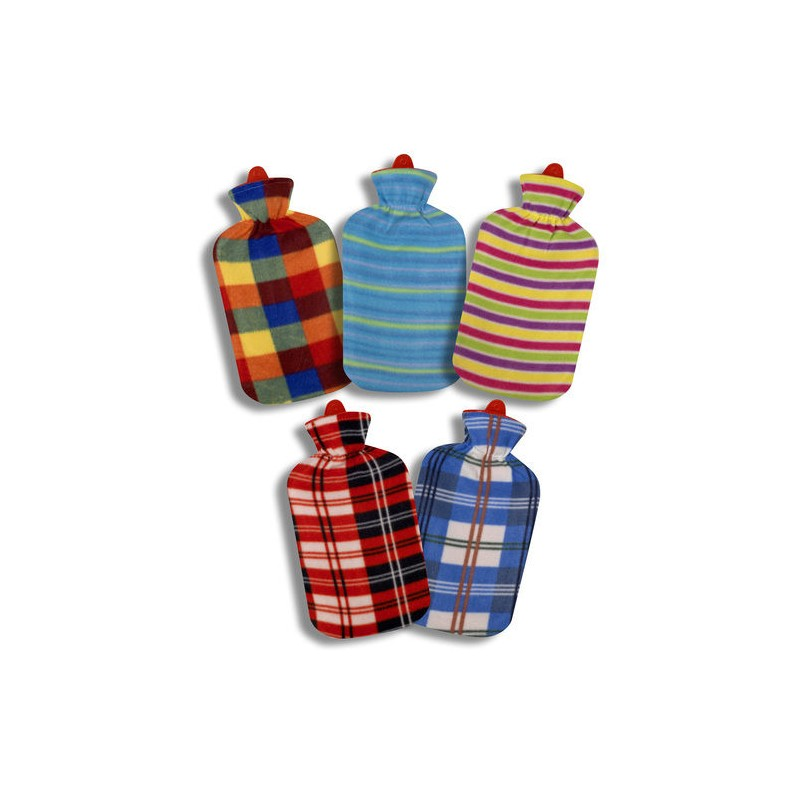 Hot Water Bag 2 Liters Fleece Assorted Colors